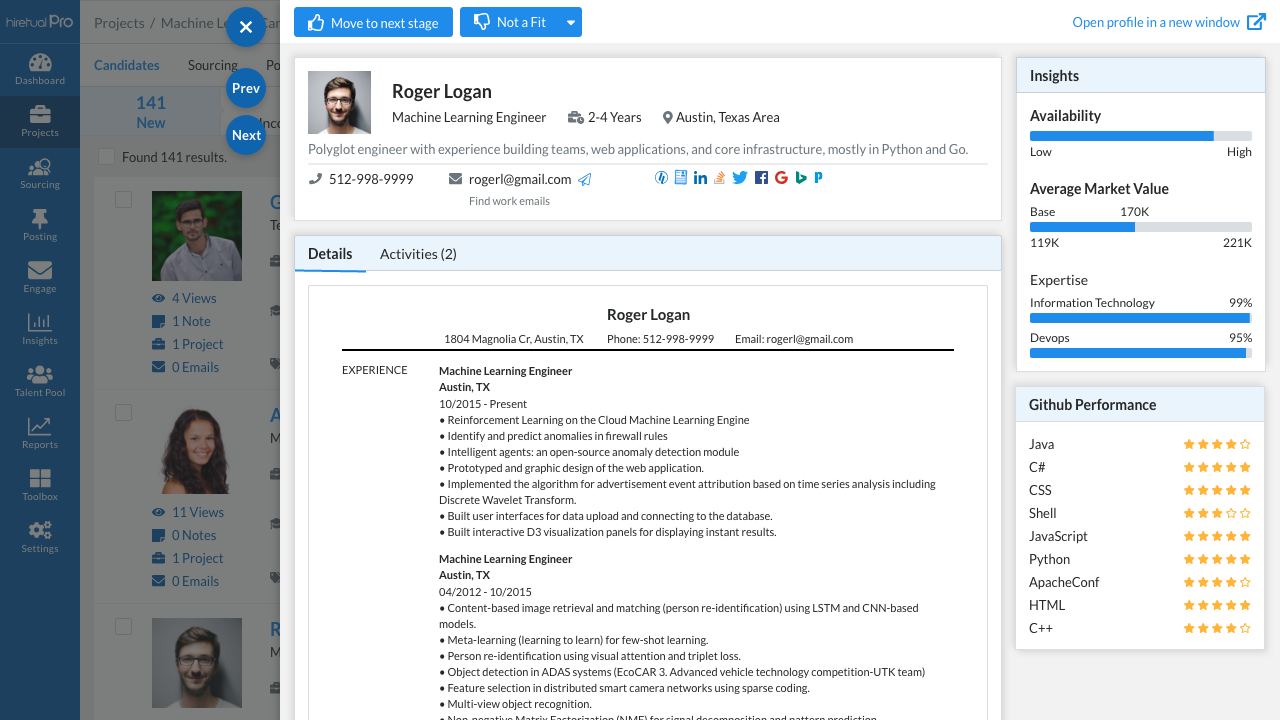 78043368 candidate profile
