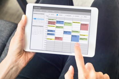 calendar scheduling header