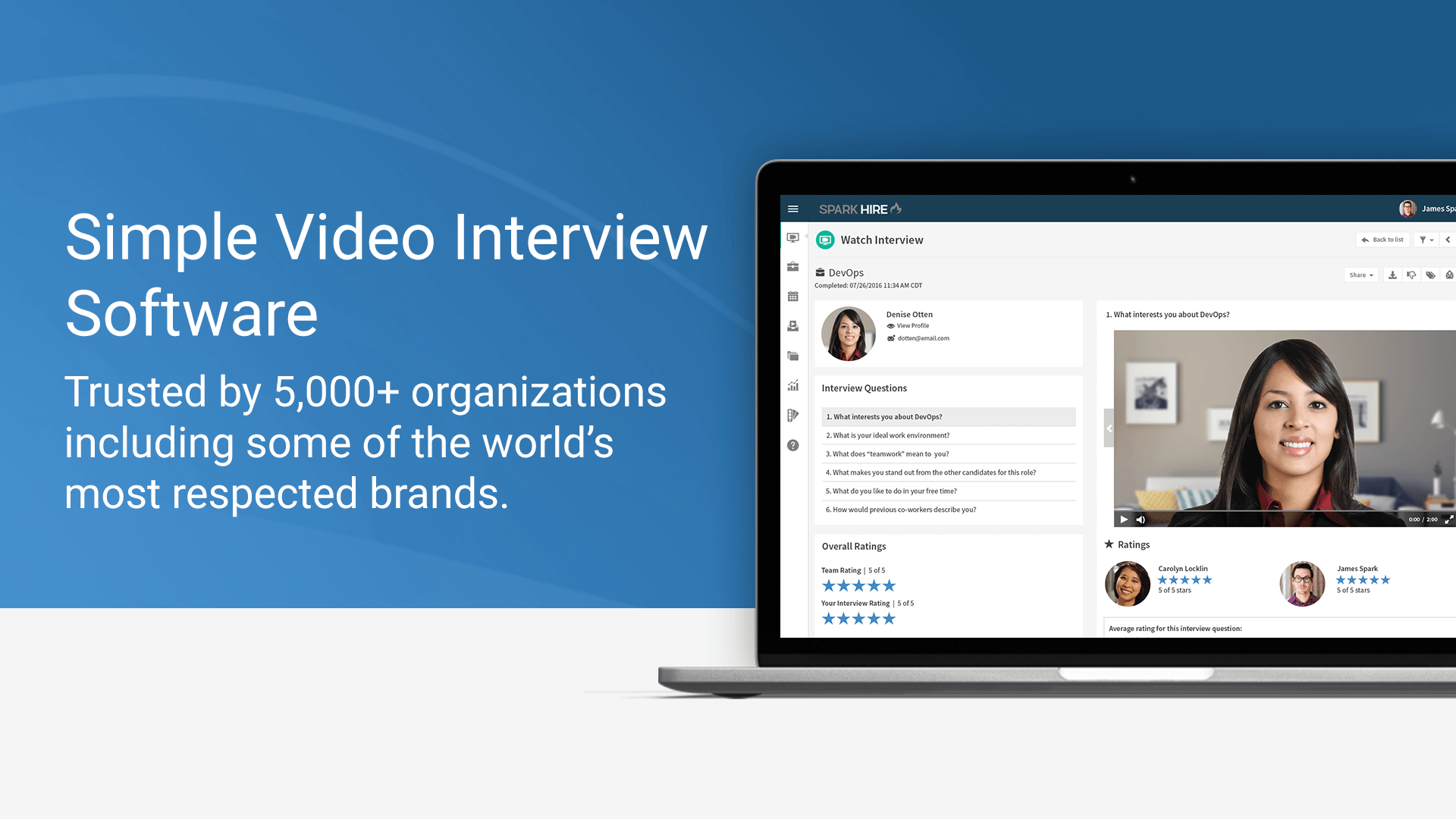 sparkhire simple video interview software